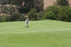 Golfer auf dem Grün